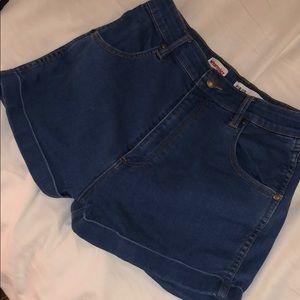 Wrangler blue shorts